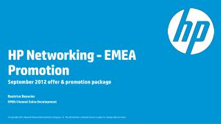 HP Networking - EMEA Promotion