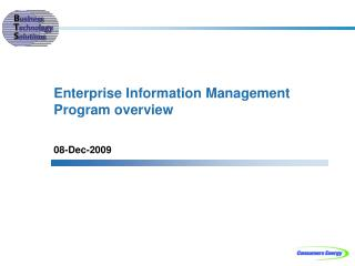 Enterprise Information Management Program overview