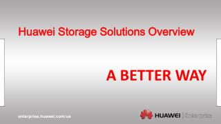 Huawei Storage Solutions Overview