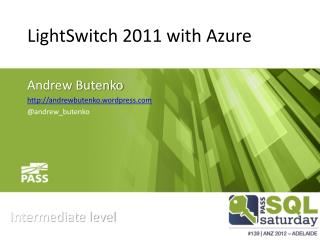 LightSwitch  2011 with Azure