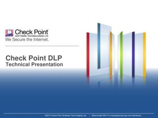 Check Point DLP Technical Presentation