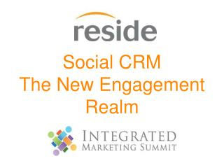 Social CRM  The  New  E ngagement  Realm