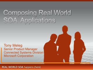 Composing Real World SOA  Applications