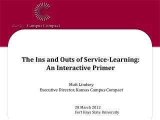 The Ins and Outs of Service-Learning: An  Interactive Primer