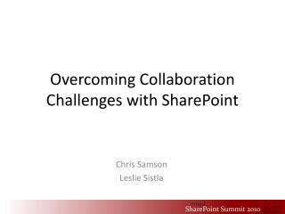 Overcoming Collaboration Challenges with SharePoint