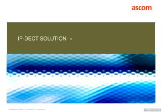 IP-DECT SOLUTION »