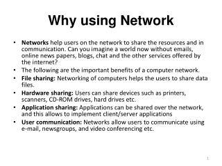 Why using Network