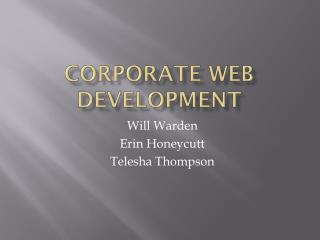 Corporate Web Development