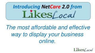 The most affordable and effective way to display your business online.