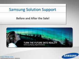 Samsung Solution Support