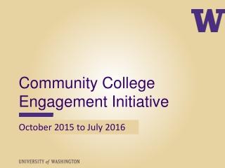 Community College Engagement Initiative