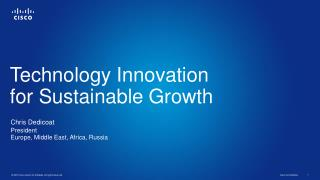 Technology Innovation  for Sustainable Growth