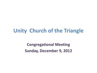 Unity  Church of the Triangle