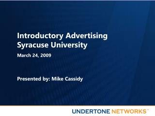Introductory Advertising Syracuse University