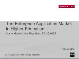 The Enterprise Application Market in Higher Education