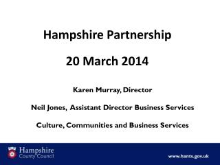 Hampshire Partnership 20 March 2014