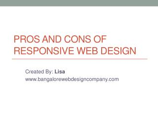 Pros and Cons Of Responsive Web design