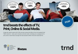trnd boosts the effects of TV, Print, Online & Social Media.