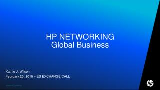 HP NETWORKING Global Business