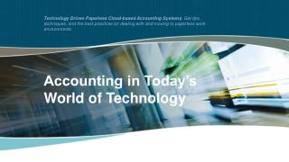 Accounting in Today's World of Technology