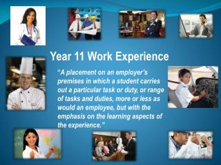 Year 11 Work Experience