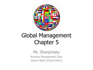 Global Management Chapter 5