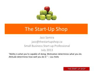 The Start-Up Shop