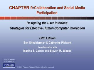 CHAPTER 9: Collaboration and Social Media Participation