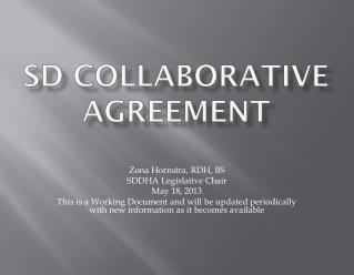 SD  Collaborative Agreement