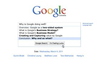 Hypothesis: Google as a System