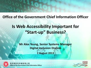 "Is Web Accessibility Important for  ""Start-up"" Business?"