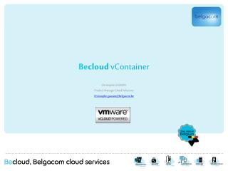 Be cloud  vContainer