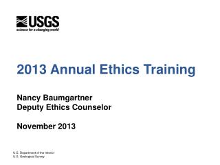 2013 Annual Ethics Training