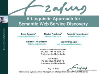 A Linguistic Approach for Semantic Web  Service  Discovery