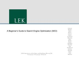A Beginner's Guide to Search Engine Optimization (SEO)