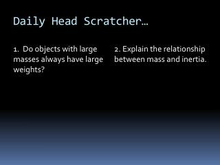 Daily Head Scratcher…