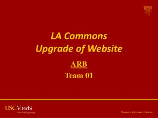 LA Commons  Upgrade of Website