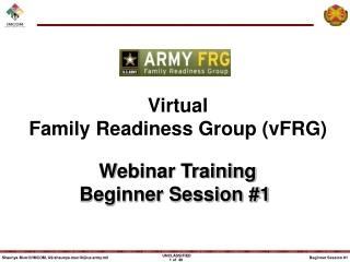 Virtual Family Readiness Group (vFRG)