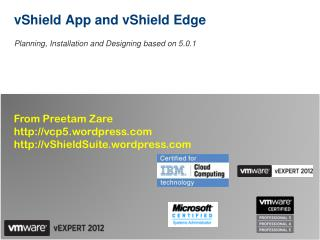 vShield App and vShield Edge