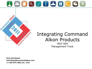 Integrating Command Alkon  Products MGT-004 Management Track