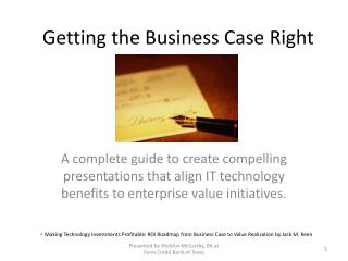 Getting the Business Case Right