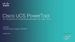 Cisco UCS  PowerTool