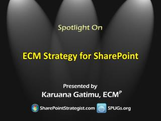 ECM Strategy for SharePoint