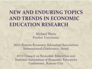 New and enduring Topics and trends in economic education research