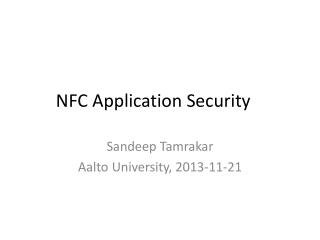 NFC Application Security