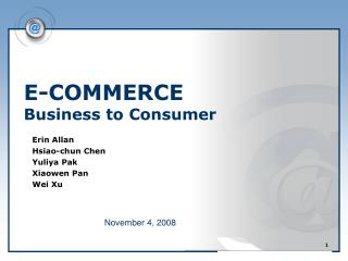 E-COMMERCE Business to Consumer
