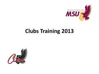 Clubs Training 2013