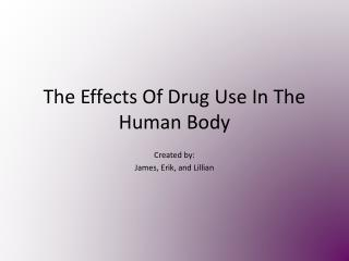 The Effects Of Drug Use In The Human Body