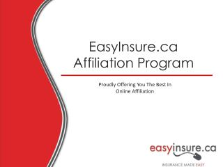 EasyInsure.ca Affiliation Program