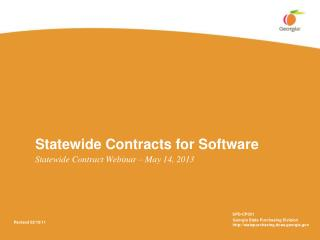 Statewide Contracts for Software